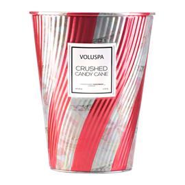Voluspa Crushed Candy Cane 2-wick Cone Tin 100tim