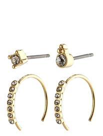 Pilgrim Earrings : Kali : Gold Plated : Crystal Accessories Jewellery Earrings Hoops Kulta Pilgrim GOLD PLATED