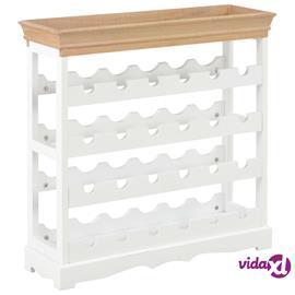 vidaXL Viinikaappi valkoinen 70x22,5x70,5 cm MDF, Laatikostot, hyllyt, kaapit, TV-tasot yms.