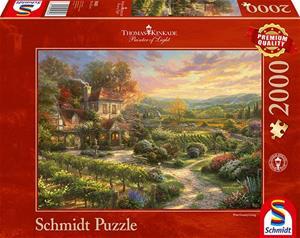 Schmidt Thomas Kinkade Studios: In the Vineyards 2000p palapeli