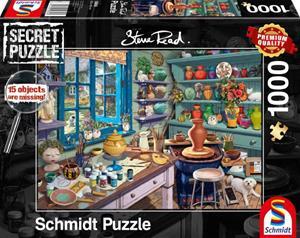 Schmidt Steve Read: Artist Atelier - Secret Puzzles 1000p palapeli
