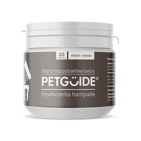 PetGuide hampaat 52g maitohappobakteeri koirille ja kissoille