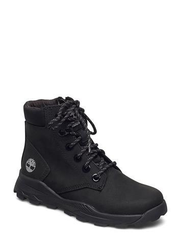 Timberland Brooklyn Snkr Boot Blk Bootsit Nauhalliset Saapikkaat Musta Timberland BLACK