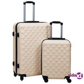 vidaXL Kovapintainen matkalaukkusetti 2 kpl kulta ABS