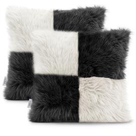 AmeliaHome Nancy -tyynynpäälinen, valkoinen/musta, 45 x 45 cm, 2 kpl