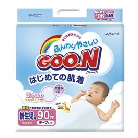 GOO.N japanilaiset vaipat NB 0-5kg 90 kpl