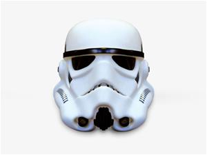 Star Wars Stormtrooper Helmet 3D Mood Light, paristokäyttöinen tunnelmavalaisin 25 cm
