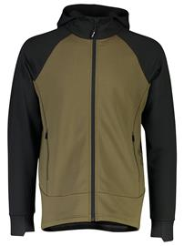 Mons Royale Merino Nevis Wool Fleece Jacket canteen / black Miehet