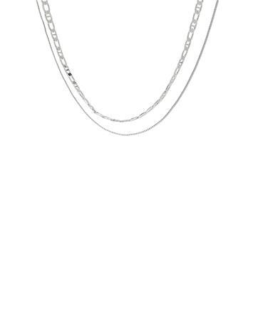 Pieces Pcnolla Combi Necklace D2d Accessories Jewellery Necklaces Dainty Necklaces Hopea Pieces SILVER COLOUR
