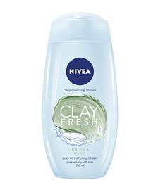 Nivea Clay Fresh Ginger & Basil Deep Cleansing 250 ml suihkugeeli