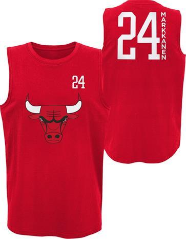 NBA - Chicago Bulls - Lauri Markkanen - Tank-toppi - Miehet - Punainen