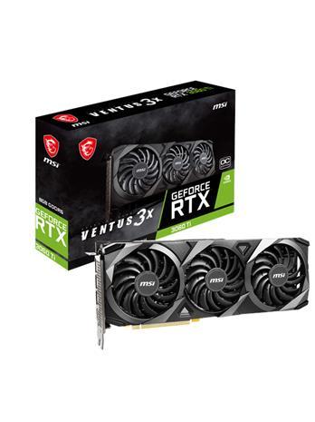 MSI GeForce RTX 3060 Ti VENTUS 3X OC 8 GB, PCI-E, näytönohjain