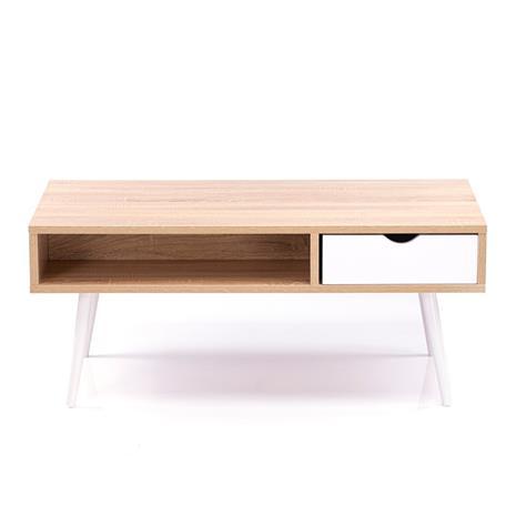 Sohvapöytä Mexo 100x50x42 cm, tammi/valkoinen