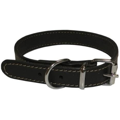 YAGO pehmeä ja säädettävä nahkapanta pienille koirille, koko S 26-32 cm, väri musta