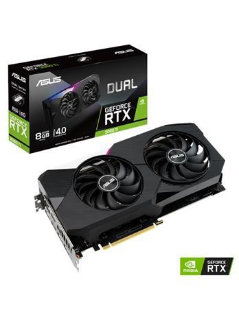 ASUS GeForce RTX 3060 Ti Dual 8 GB, PCI-E, näytönohjain