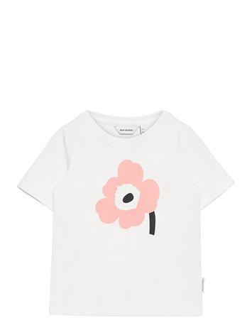 Marimekko Soida Unikko Placement T-Shirt T-shirts Short-sleeved Vaaleanpunainen Marimekko WHITE, ROSE, BLACK