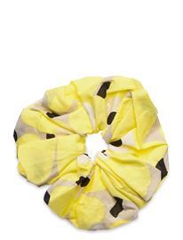Marimekko Ruusunkukka Unikko Hair Scrunchie Hiustarvikkeet Keltainen Marimekko BEIGE, YELLOW, BLACK
