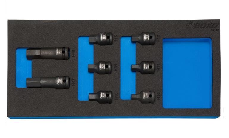 """Kuusiokolohylsysarja 1/2"""" (10-19 mm), Boxo Kuusiokolohylsysarja 1/2"""" (10-19 mm)"""