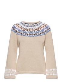 Jumperfabriken Vera Knitwear Christmas Sweaters Beige Jumperfabriken BEIGE