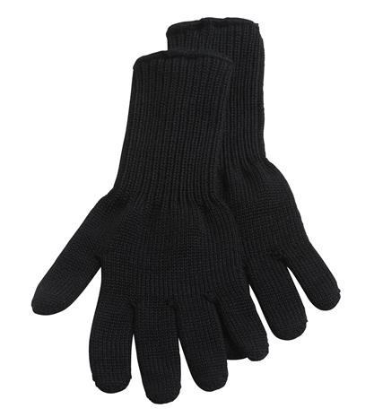 North Outdoor Huurre sormikkaat - 100% merinovillaa - Valmistettu Suomessa, Musta / M