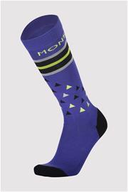 Mons Royale Miesten Merinovillasukat - Lift Access Sock, M (42-44) / Ultra Blue / Black