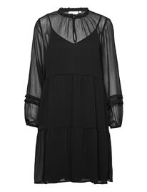 Coster Copenhagen Dress In Recycled Polyester Polvipituinen Mekko Musta Coster Copenhagen BLACK