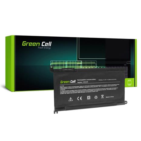 Green Cell kannettavan akku WDX0R WDXOR for Dell Inspiron 13 5368 5378 5379 14 5482 15 5565 5567 5568 5570 5578 5579 7560 7570 17 5770 / 11.4V 2100mAh