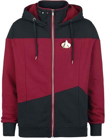 Star Trek - The Next Generation - Vetoketjuhuppari - Miehet - Punainen musta