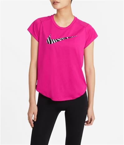 Nike naisten treenipaita ICON CLASH RUN, fuksia M
