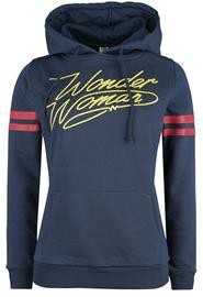 Wonder Woman - Logo - Huppari - Naiset - Sininen