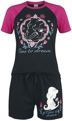 Aladdin - Time to Dream - Pyjama - Naiset - Musta pinkki