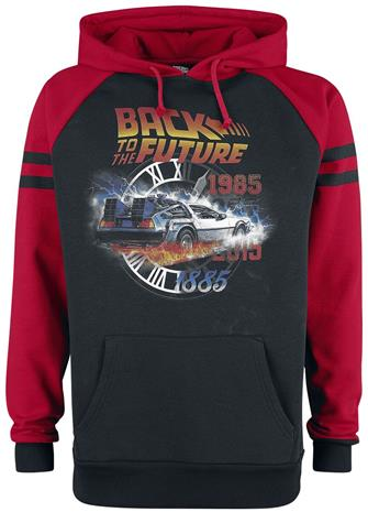Back To The Future - Time - Huppari - Miehet - Musta punainen