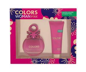 Benetton Colors Pink EDT lahjapakkaus naiselle 80 ml