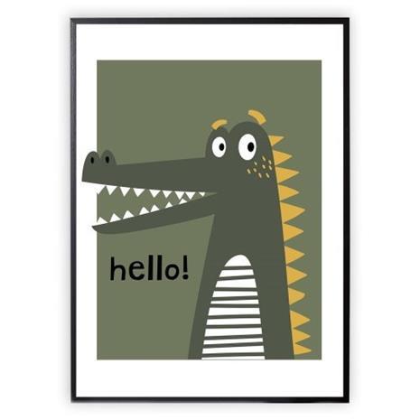XO Posters, Poster Crocodile 30x40cm