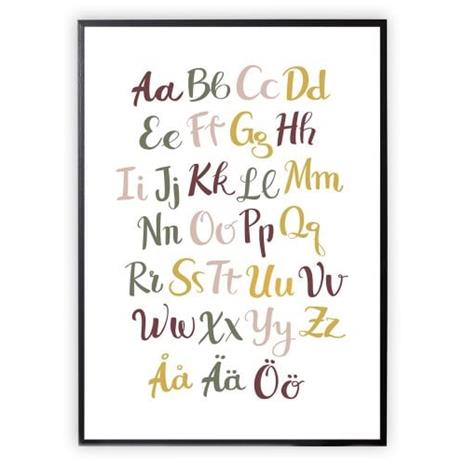 XO Posters, Poster Alphabet Color 30x40cm
