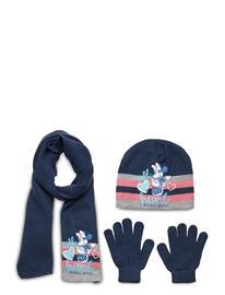 Disney Set 3 Pcs Scarf Gloves Hat Accessories Headwear Hats Sininen Disney NAVY