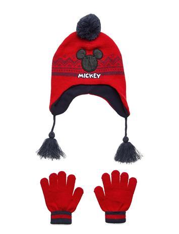Disney Peruvian Set & Gloves Accessories Headwear Hats Punainen Disney RED