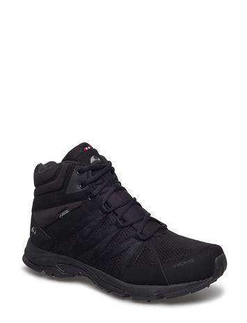 Viking Komfort Mid Spikes Gtx Shoes Boots Winter Boots Musta Viking BLACK