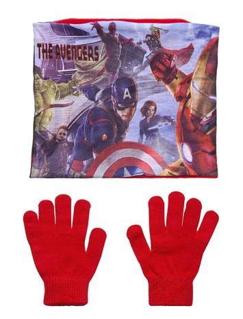 Marvel Set 2 Pcs Collar Gloves Huivi Punainen Marvel RED