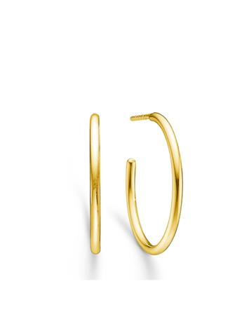 ID Fine Jewelry Dash Medium Hoops - Gold Accessories Jewellery Earrings Hoops Kulta ID Fine Jewelry GOLD