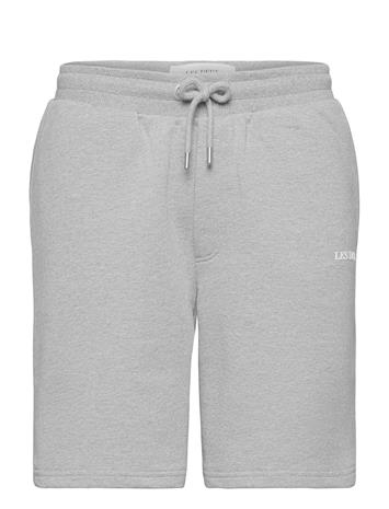 Les Deux Lens Sweatshorts Shorts Casual Harmaa Les Deux LIGHT GREY MELANGE/WHITE