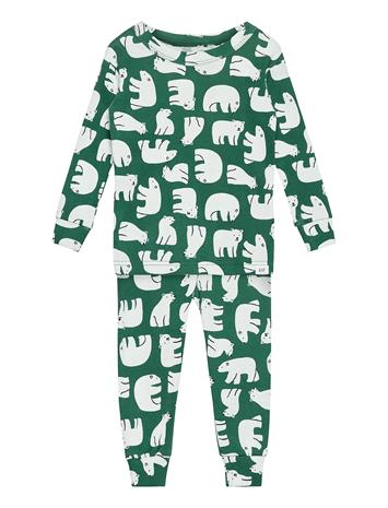 GAP Babygap Polar Bear Pj Set Pyjamasetti Pyjama Vihreä GAP BALSAM TREE