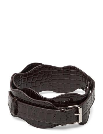 HVISK Wavy Handle Long Bags Bag Straps Ruskea HVISK DARK BROWN