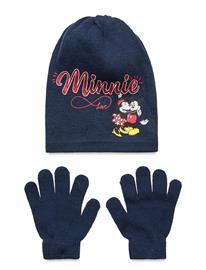 Disney Set 2 Pcs Hat & Gloves Accessories Headwear Hats Sininen Disney NAVY