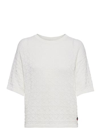 BUSNEL Christelle Top T-shirts & Tops Knitted T-shirts/tops Valkoinen BUSNEL WHITE