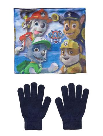 Paw Patrol Set 2 Pcs Collar Gloves Huivi Sininen Paw Patrol NAVY