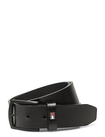 Tommy Hilfiger Denton Matte 3.5 Accessories Belts Classic Belts Musta Tommy Hilfiger BLACK