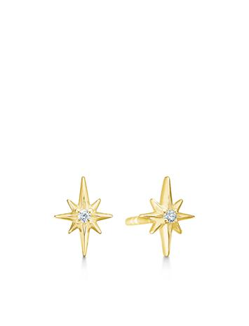 ID Fine Jewelry Guiding Star Earstuds - Gold Accessories Jewellery Earrings Studs Kulta ID Fine Jewelry GOLD