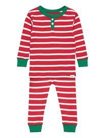 GAP Babygap Stripe Pj Set Pyjamasetti Pyjama Punainen GAP FR MODERN RED