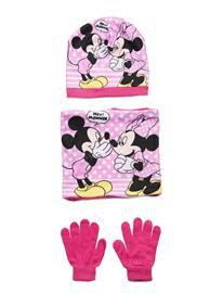 Disney Set 3 Pcs Scarf Gloves Hat Accessories Headwear Hats Vaaleanpunainen Disney PINK